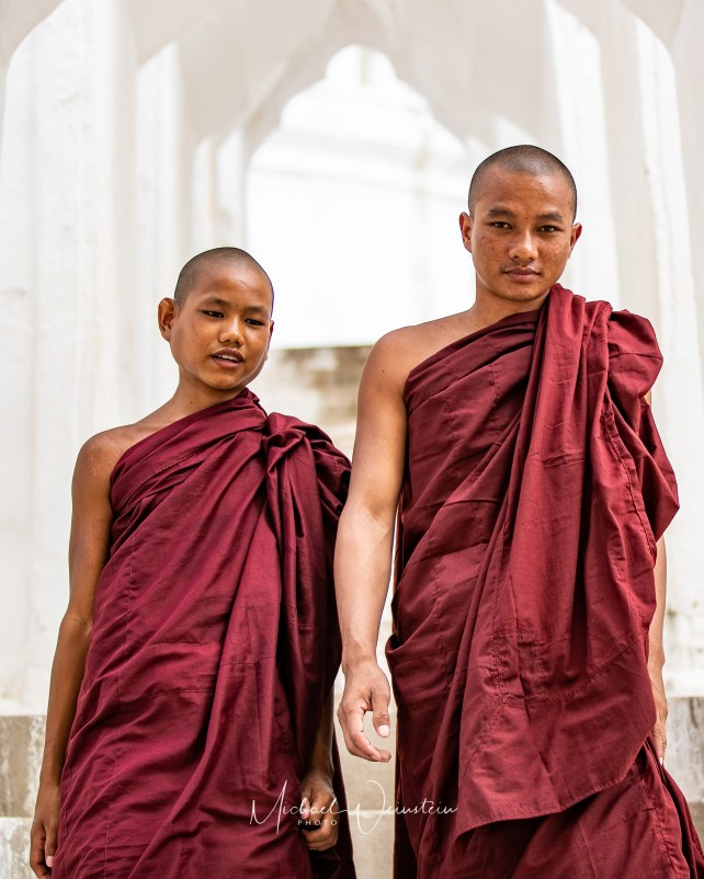Mandalay White Temple Monks-1