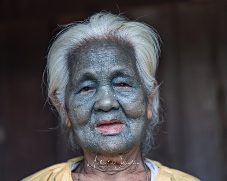 Uppa Tribe Lae Guang 80 yrs old Tattooed full face at 14 yeras old