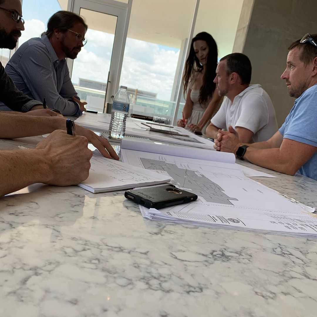 Kick off first construction meeting with the Urbanspace team for their new Corporate Headquarters at The Independent Austin, TX