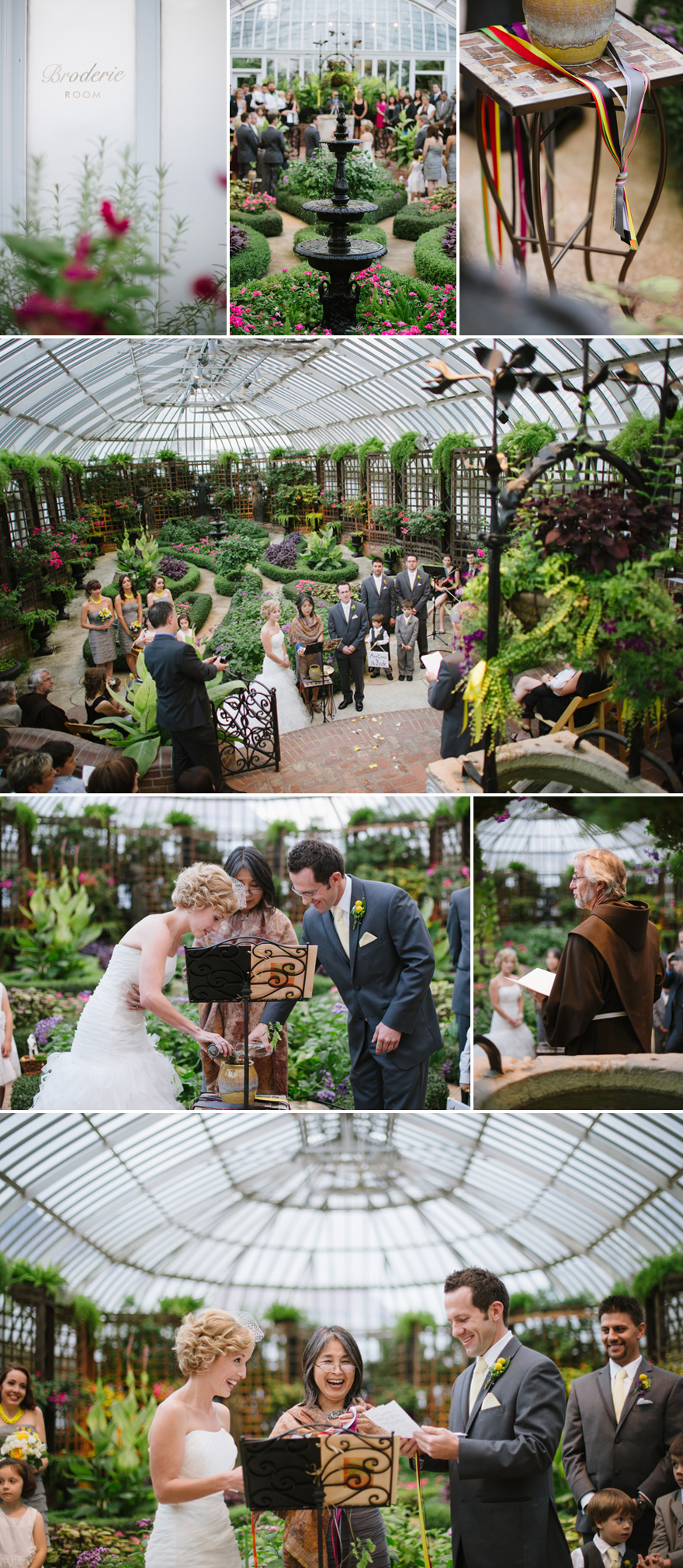 Phipps Conservatory Wedding and Zenith Cafe Wedding