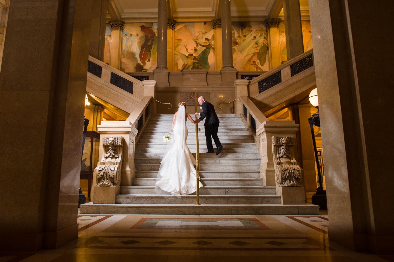 Carnegie Museum Wedding  Ashley  Mike  MichaelWill Photo