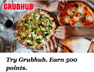Earn 500 IHG Points For First Grubhub Order