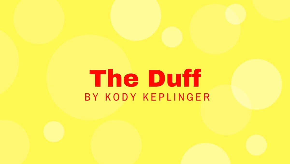 The Duff by Kody Keplinger book review