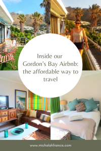 Inside our Gordon's Bay Airbnb_