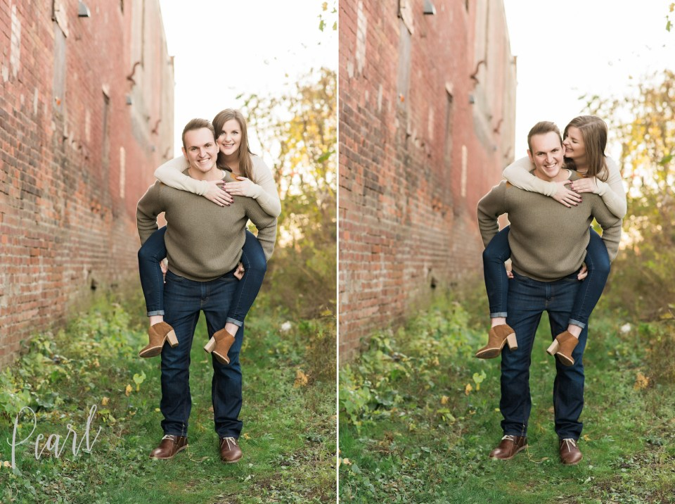 Downtown Davenport Engagement Photographer
