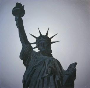 against the light - liberty dream, 2005, 73x73cm