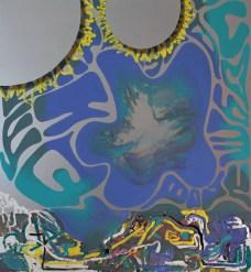 milka, trembling hands, plasticine, 2016, 140x120cm