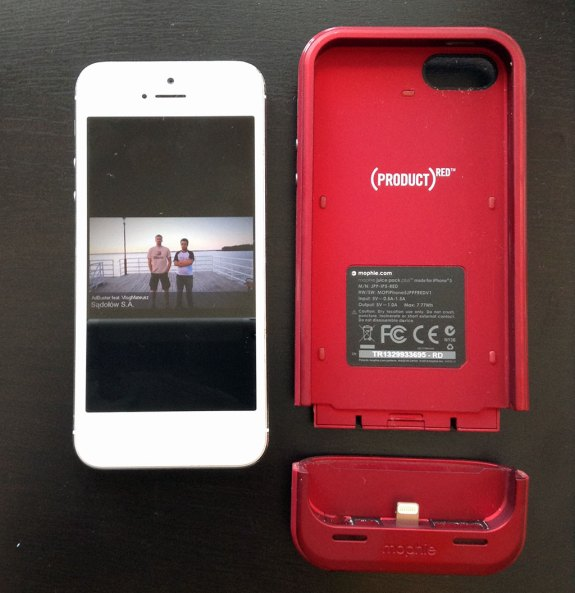 iPhone 5 i Mophie Juice Pack Plus