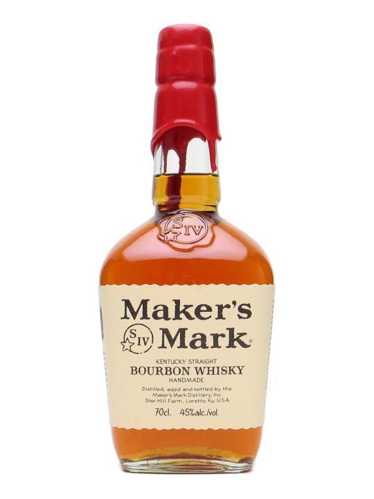 Maker's Mark. Podobno ulubiony bourbon barmanów. Dość delikatny w smaku – jak na Bourbona oczywiście. I ta niepowtarzalna butla zalana woskiem!