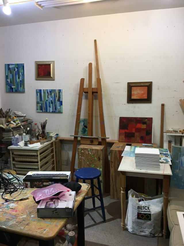 34. Paintings inside Li Lin's studio