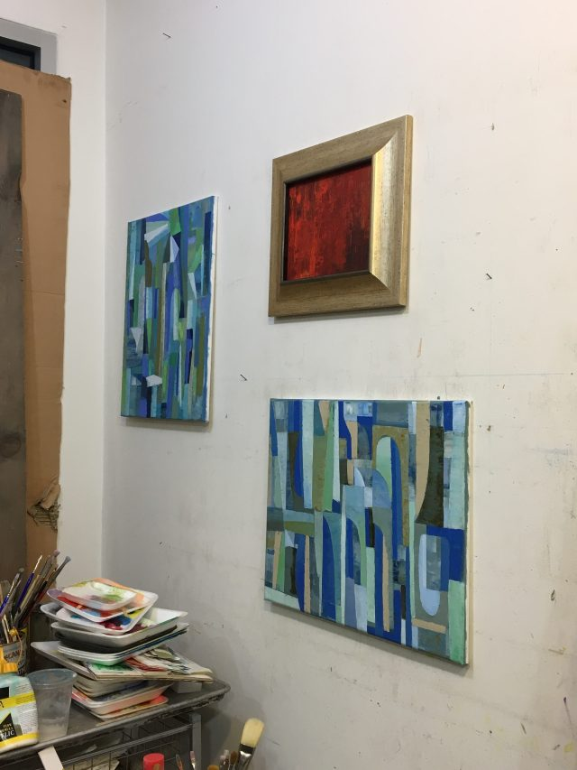 36. Paintings inside Li Lin's studio