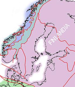 Mapa tectónico Escandinavia