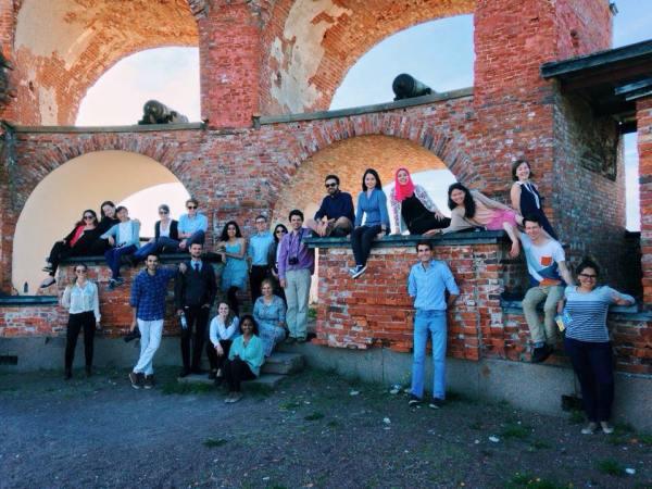 Foto grupal, con Oriol Salvador