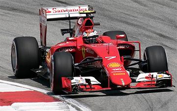Kimi Räikkönen en Malasia 2015