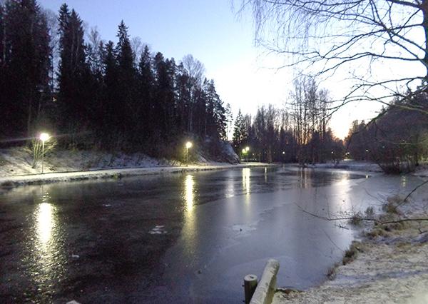 Ankkalampi Korso congelado
