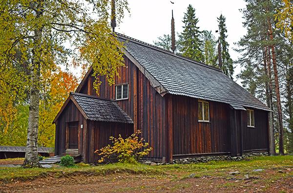 Iglesia antigua de Sodankylä