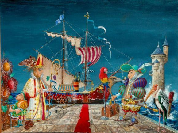 Michauxsurreel Peintre De L Imaginaire Et Abstrait