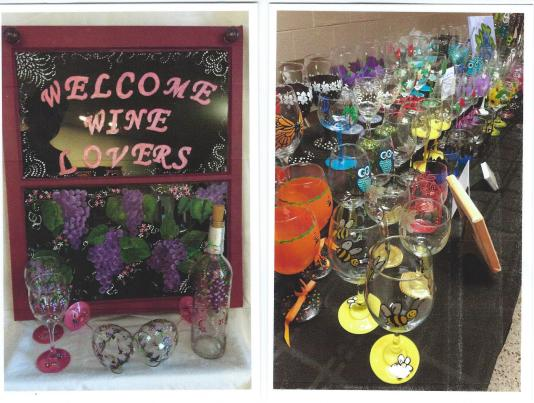 Art Strokes – Painted Wine Glasses, Lighted Bottles, Gourd Birdhouses