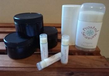 Frosted Seasons Body Essentials – Soap, Deodorant, Lip Balm, Hand Crubs, Lotion Bars, Shaving Creams