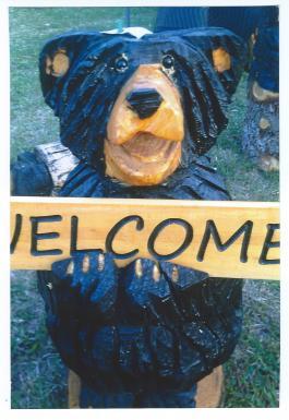 Cedar Creek Chainsaw Art – Bears, Stools, Birds