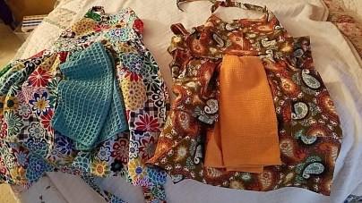 Aprons and More – Sewn Aprons, Crochet & Knitted Baby items, Tutu's and Towels