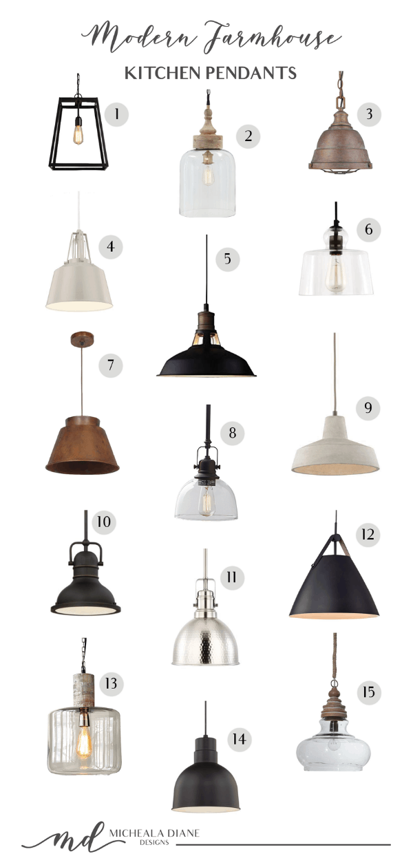 modern farmhouse kitchen pendants