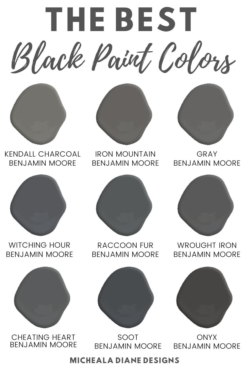 The Best Home Decor Paint Colors: Kendall Charcoal | The