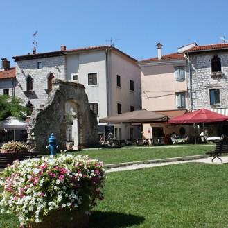 Dobrile Juraj Square in Porec, Croatia
