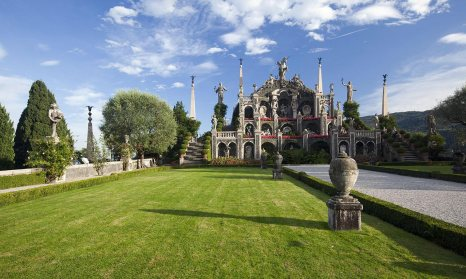 Isola Bella is famous for the most beautiful garden in Europe with its baroque palace.