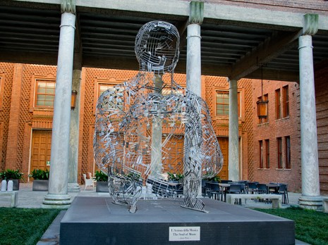 Sculpture in front of the Violin Museum in Cremona