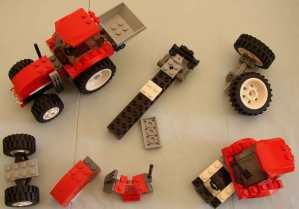 Legotractor pieces