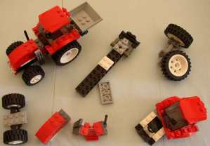 Legotractor pieces