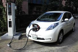 CHAdeMO charger in action