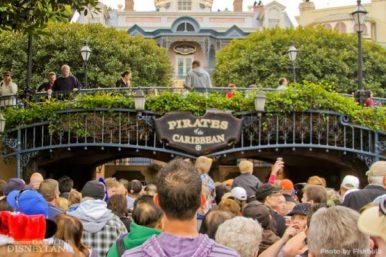 Waiting at Disneyland