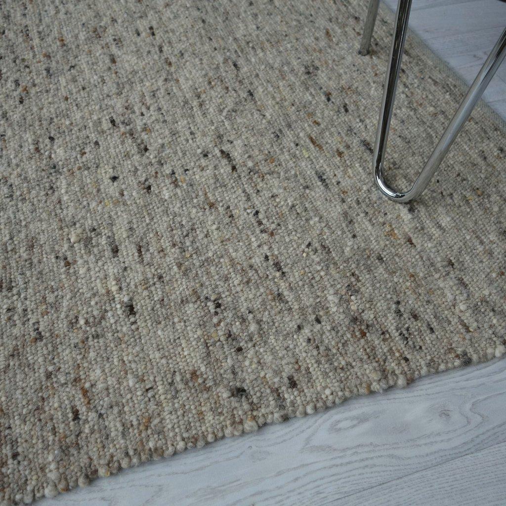 Teppich Natur Grau Naturteppich Aus Echter Wolle Ganges 110