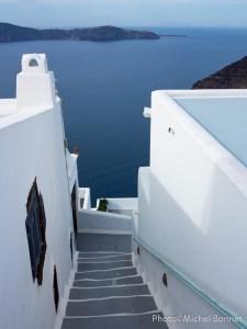 Escalier Santorin (Grèce)