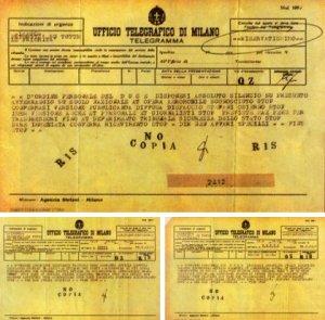 Document crash ovni 1933 télégramme