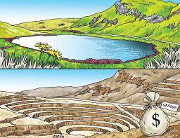 Une mine à ciel ouvert qui légitimera le pillage des ressources naturelles par le 1% ;et laissera les problèmes environnementaux aux mains du 99%.