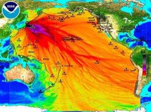 Les radiations s'étendent maintenant à tout le Pacifique.