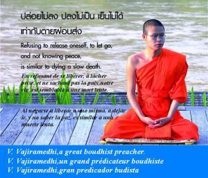 V.Vajiramedhi en méditation.