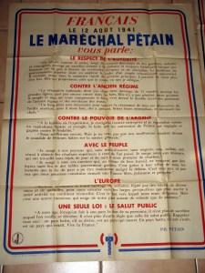 La proclamation du 12 août 1941,un texte  courageux  dans une période difficile.