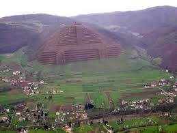 Photo d'ensemble  avec la pyramide du Soleil  ,au centre.