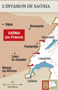 L'exercice consistait à imaginer  que la Saonia attaquait le Jura.