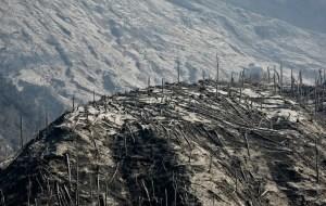 Au matin,c'est avec effroi que les habitants constatèrent le désastre provoqué subtilement par le mont Merapi.