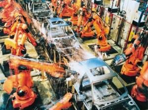 Une ligne de production robotisée