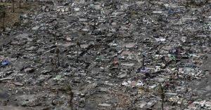 La ville de Tacloban,complètement détruite par Haiyan.