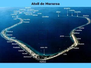 Localisation des tests nucléaires sur l'Atoll...un peu tassés!
