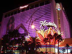 Le fameux Hotel Flamingo à Las Vegas.