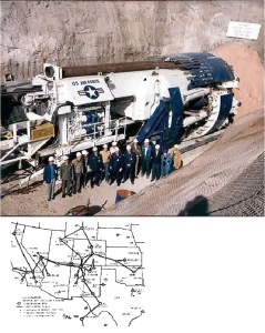US  Air force underground boring machine