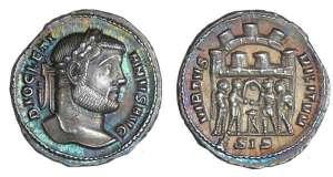 L'argenteus,la monnaie d'un grand empereur:Dioclétien.